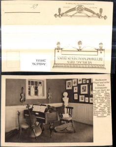 289353,Musik Ludwig van Beethoven Flügel u. seine Streichinstrumente Cello Geige Instrumente