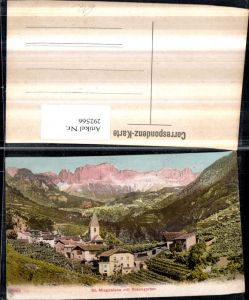 292566,Trentino Bolzano St. Magdalena Totale m. Rosengarten Bergkulisse