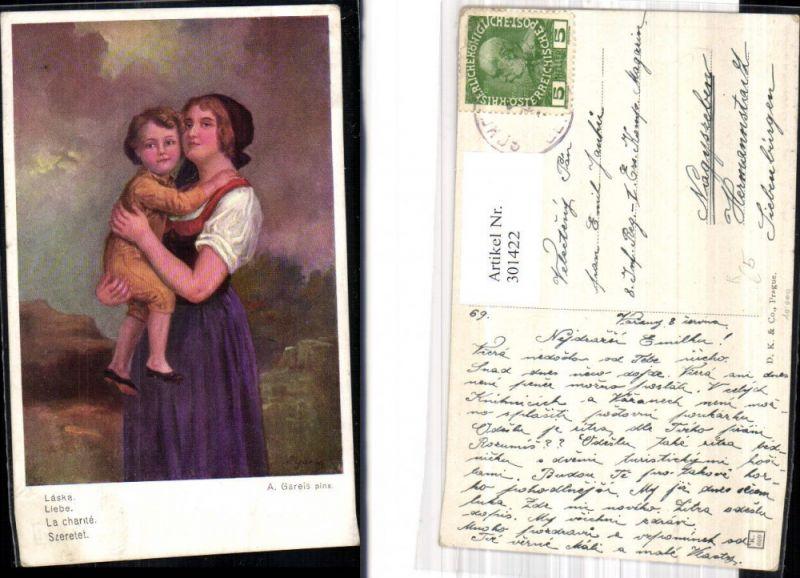 301422,Künstler Ak A. Gareis Liebe Mutter m. Kind