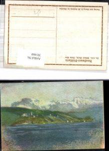 301460,Künstler Ak Albert Welti Mein See Landschaft pub Kunstwart 210