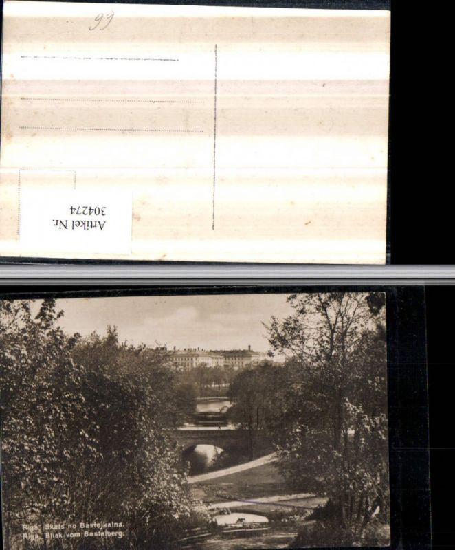 304274,Riga Blick vom Bastaiberg Brücken
