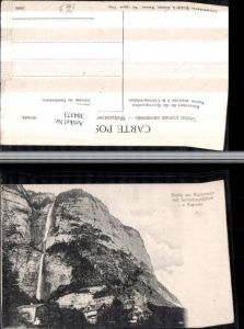 304373,Betlis am Wallensee b. Amden Serenbachfälle Wasserfall u. Kapelle Kt St Gallen