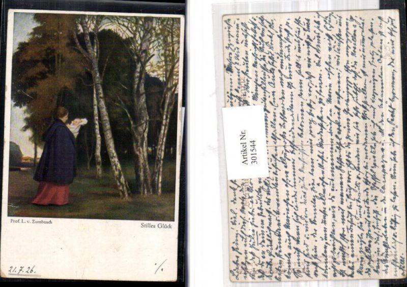 301544,Künstler Ak L. v. Zumbusch Stilles Glück Mutter m. Kind Bäume pub Wohlgemuth & Lissner 5017
