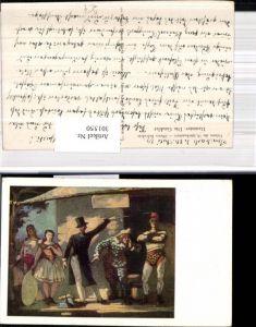 301550,Künstler Ak Daumier Die Gaukler