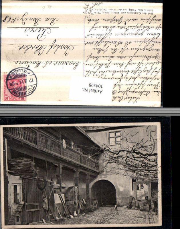 304598,Turckheim Türkheim im Elsass Hof des Gasthauses zum Wilden Mann