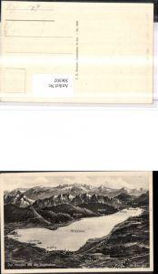 306502,Attersee aus d. Vogelschau St. Georgen Nussdorf Seefeld Steinbach Bergkulisse