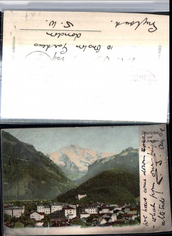 309636,Interlaken Teilansicht m. Jungfrau Bergkulisse Kt Bern