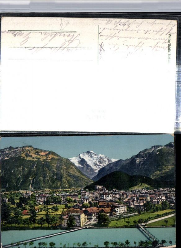 309638,Interlaken Totale m. Jungfrau Bergkulisse Kt Bern