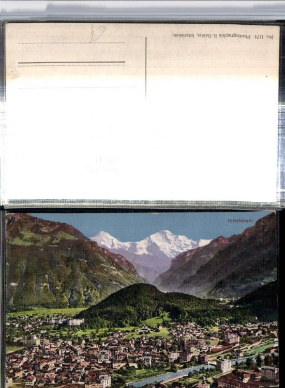 309641,Interlaken Totale m. Jungfrau Bergkulisse Kt Bern
