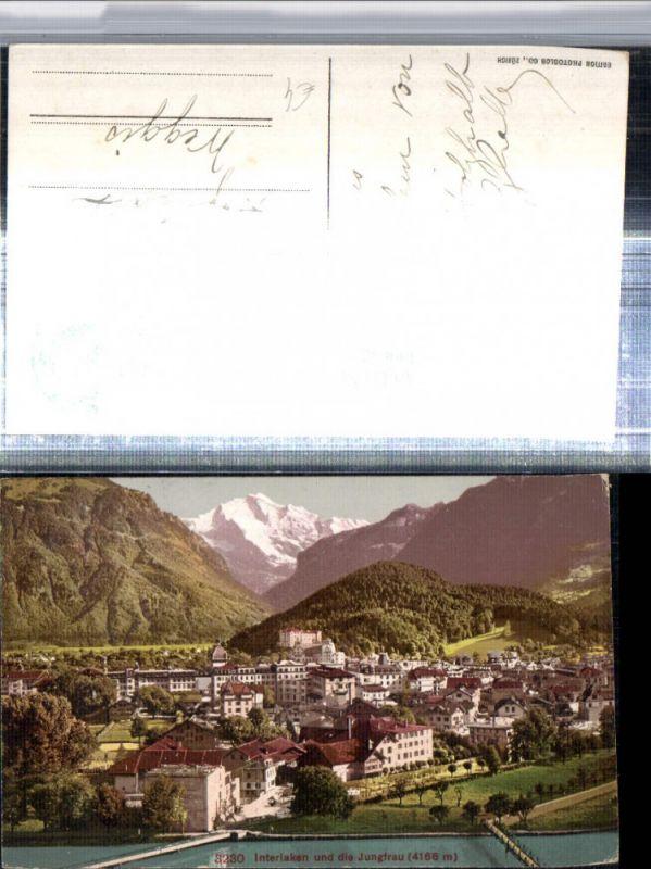 309642,Interlaken Totale m. Jungfrau Bergkulisse Kt Bern