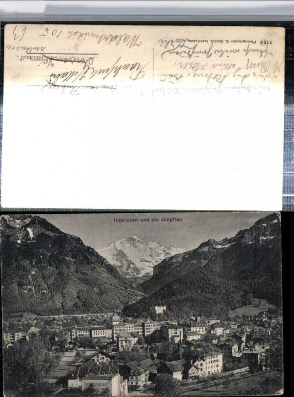 309644,Interlaken Totale m. Jungfrau Bergkulisse Kt Bern