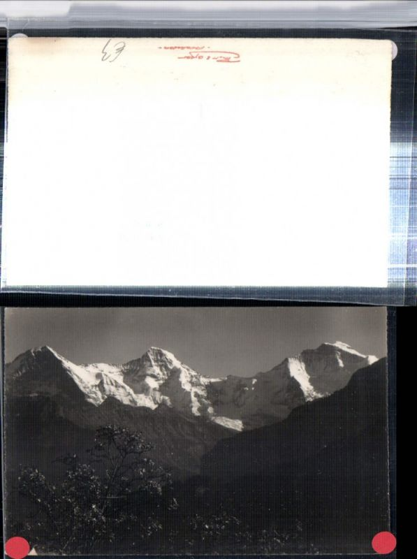 309645,Beatenberg Waldegg Eiger Mönch u. Jungfrau Bergkulisse Kt Bern