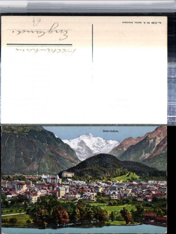 309646,Interlaken Totale m. Jungfrau Bergkulisse Kt Bern