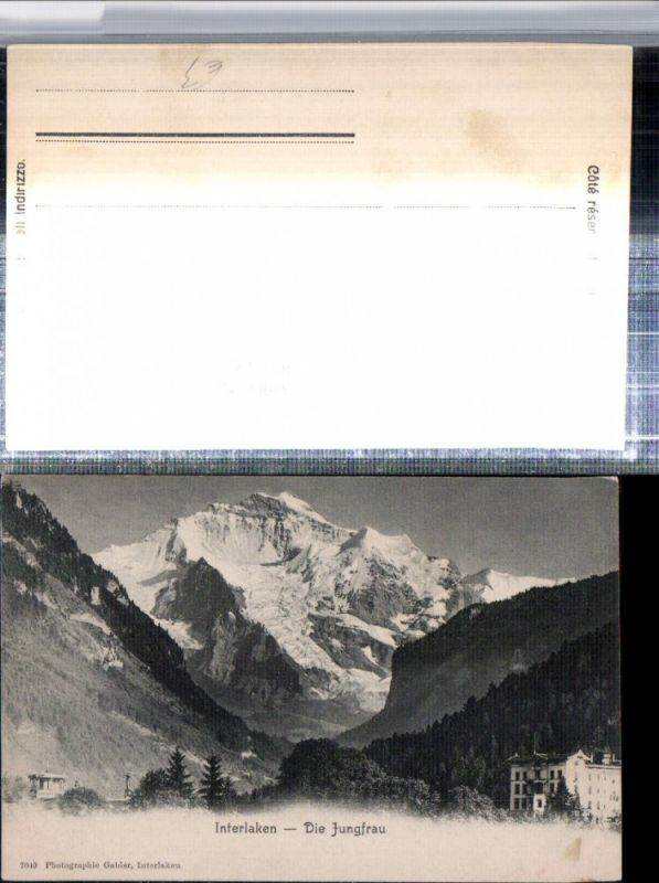309649,Interlaken Hotel m. Jungfrau Bergkulisse Kt Bern