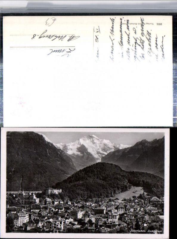 309650,Interlaken Totale m. Jungfrau Bergkulisse Kt Bern