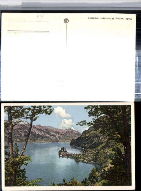 309653,Iseltwald am Brienzersee Totale Bergkulisse Kt Bern