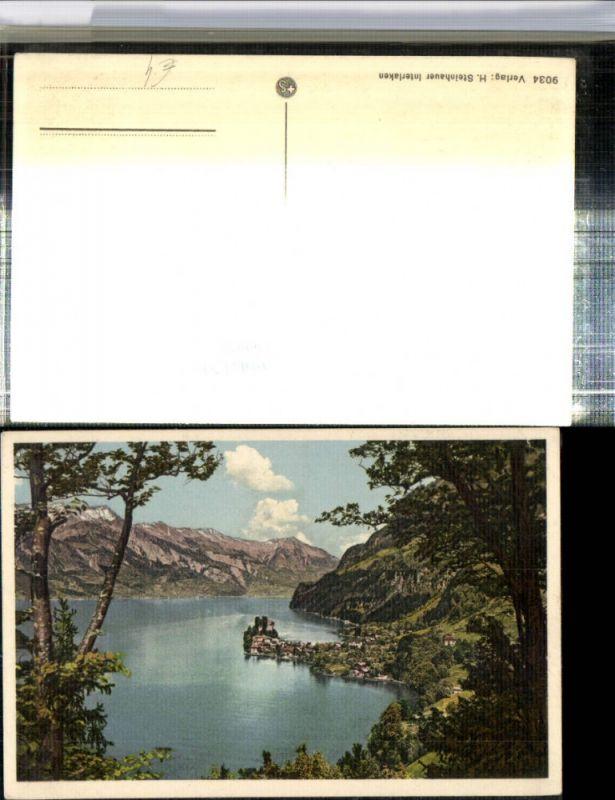 309654,Iseltwald am Brienzersee Totale Bergkulisse Kt Bern