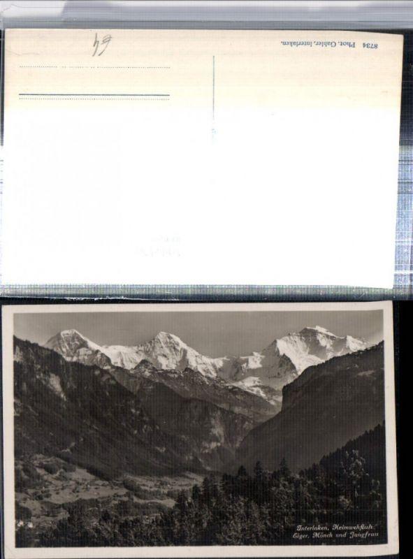309655,Interlaken Heimwehfluh Eiger Mönch u. Jungfrau Bergkulisse Kt Bern