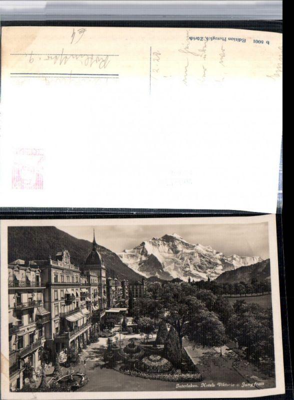 309656,Interlaken Hotel Viktoria Promenade m. Jungfrau Bergkulisse Kt Bern
