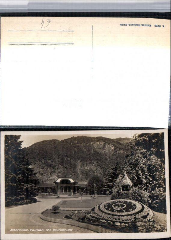309657,Interlaken Kursaal m. Blumenuhr Kt Bern
