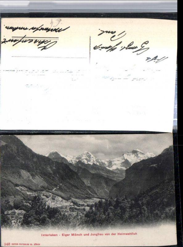 309658,Interlaken Eiger Mönch u. Jungfrau von der Heimwehfluh Bergkulisse Kt Bern
