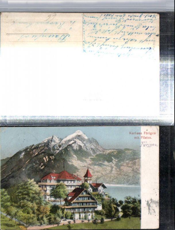 309750,Kurhaus Fürigen m. Pilatus Bergkulisse Kt Nidwalden