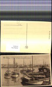 313039,Segelboote Boote i. Hafen Anvers Antwerpen La Rade De Reede