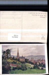 311392,Deutscher Schulverein 1640 Künstler Hans Götzinger Linz vom Bauernberg Kirche