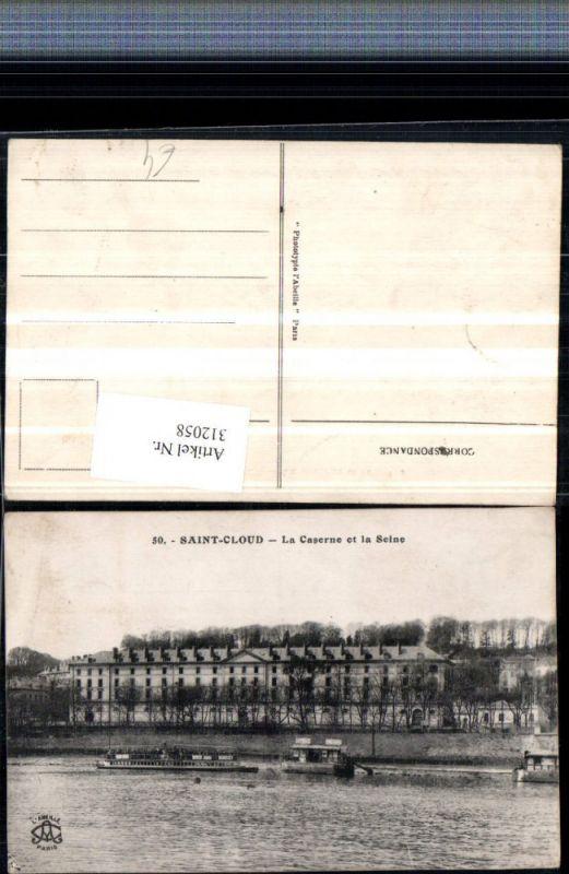 312058,Saint-Cloud La Caserne et la Seine Kaserne Boot