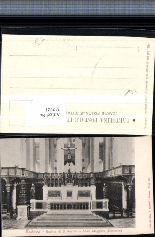 312721,Veneto Padova Padua Basilica di S. Antonio Altare Maggiore Altar