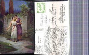 319079,Künstler Ak J. Mathauser Römische Liebe L amour romain