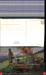 319102,Künstler Ak Fr. Reiss Schwarzwald Quellen Brunnen Landschaft pub Joh. Elchlepp 6