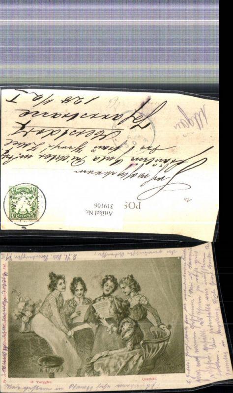 319106,Künstler Ak H. Torggler Quartett Frauen Singen Chor Musik pub F. A. Ackermann 846