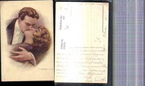 319325,Künstler Ak T. Corbella Paar Kuss Liebe
