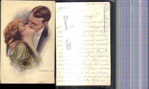 319326,Künstler Ak T. Corbella Paar Kuss Liebe