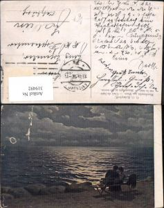 319492,Theo Stroefer Russische Meister 9 G. O. Kalmykoff Mondnacht a. Meer Paar Liebe