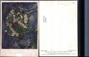 316394,Künstler AK Marc Chagall Bouquet of Flying Lovers Liebespaar Blumen