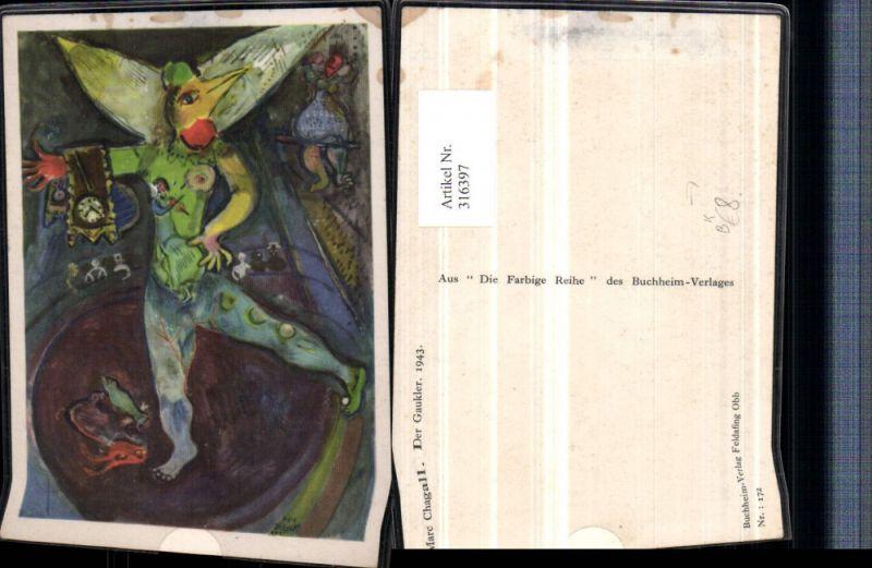 316397,Künstler AK Marc Chagall Der Gaukler Clown
