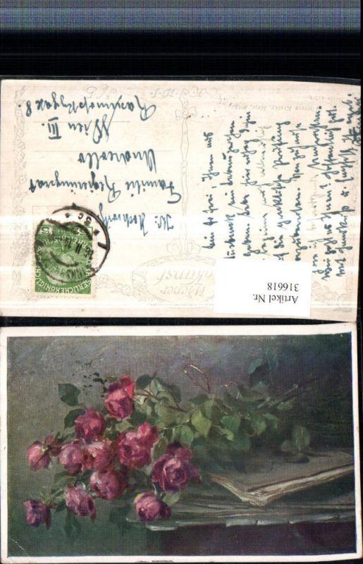 316618,Künstler AK Therese Kratky Steyr Rosenstrauß Rosen pub B.K.W.I. 417/1