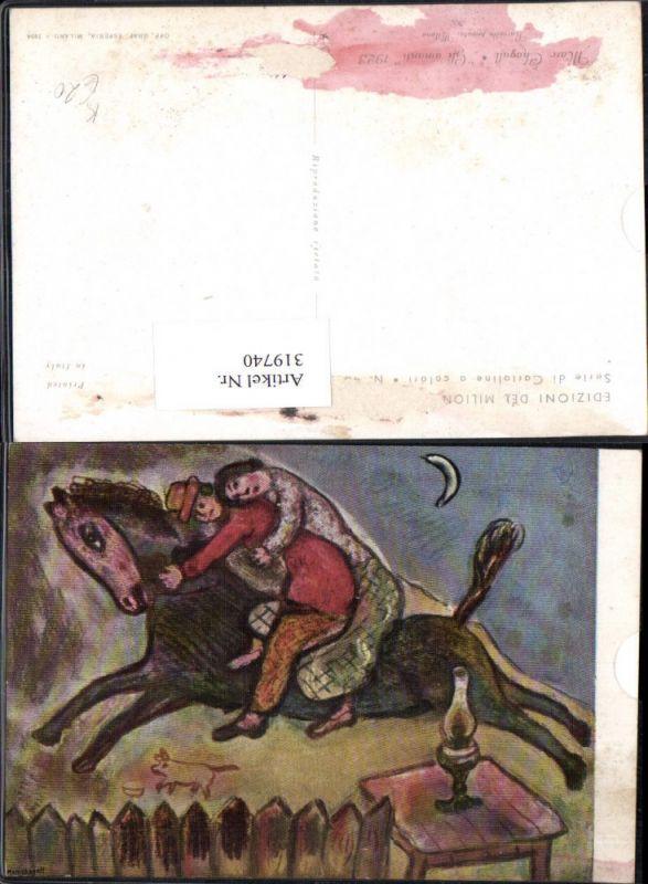 319740,Künstler Ak Marc Chagall Gli amanti Pferd