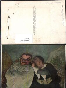 319741,Künstler Ak Honore Daumier Crispin et Scapin