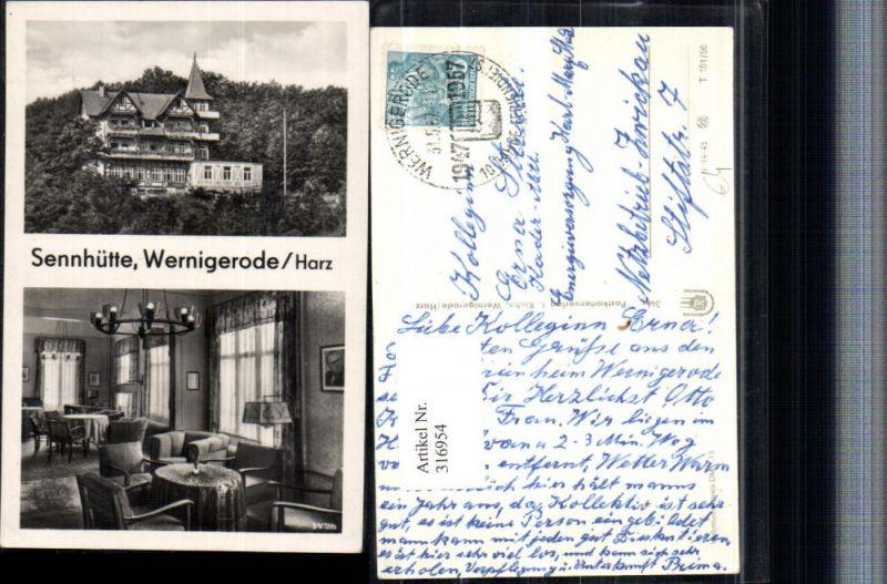 316954,Wernigerode im Harz Sennhütte Innenansicht Mehrbildkarte 0