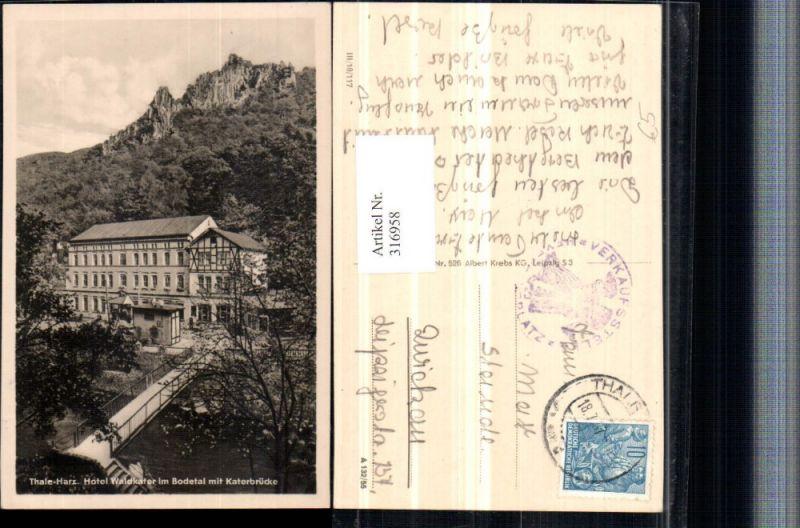 316958,Thale im Harz Hotel Waldkater im Bodetal m. Katerbrücke