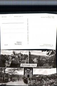 316984,Gernrode im Harz Totale See Mehrbildkarte