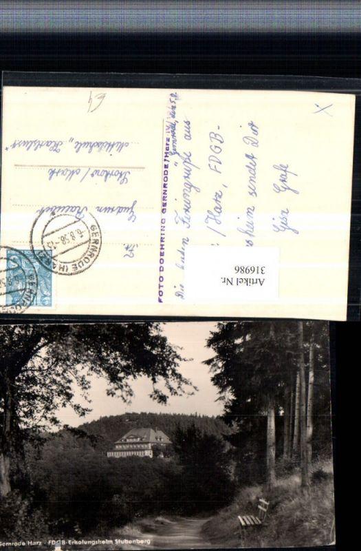 316986,Gernrode im Harz FDGB-Erholungsheim Stubenberg