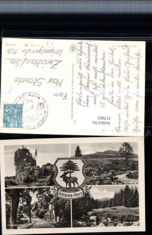 317003,Schierke im Harz Unterschierke Feuersteinklippen Kalte Bode Mehrbildkarte