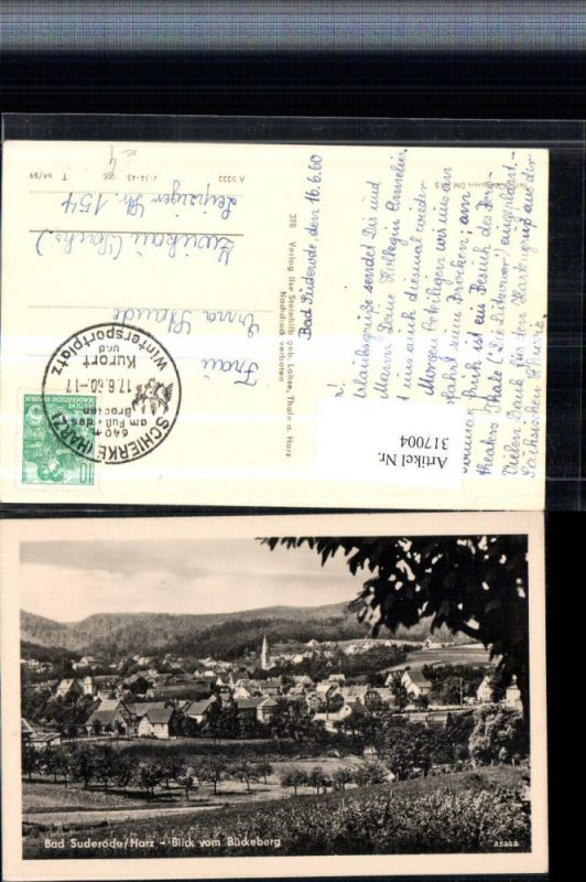 317004,Bad Suderode im Harz Totale Blick v. Bückeberg