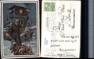 318939,Verein Südmark 74 Künstler A. Marussig Neujahr Riese Personen Turm
