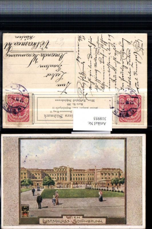 318955,Verein Südmark 268 Künstler Richard Moser Wien Lustschloss Schönbrunn