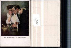 321124,M. Munk Vienne 833 Künstler Clarence F. Underwood Wie werden wir uns einrichten Paar